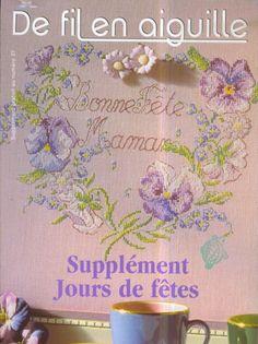 1000 images about french cross stitch on pinterest monogram cross stitch - Salon fil en aiguille ...