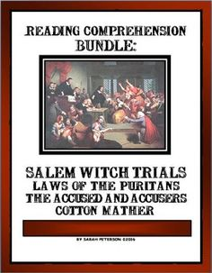 READING COMPREHENSION: SALEM WITCH TRIALSThis product is great for Social Studies (History) and Language Arts (Reading Comprehension).  The product contains:  11 two-page reading passages of informational text on the Salem Witch Trials; 11 pages of Reading Comprehension questions (one for each passage); and the teachers keys.