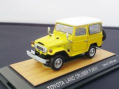 1:43 TOYOTA LAND CRUISER FJ 40V HT Yellow tosa collection JAPAN DIECAST CAR