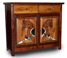 Jumping Horse cabinet || Great tack room piece