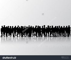 People Silhouettes Group Women And Men Vektorová ilustrace 246774340 : Shutterstock