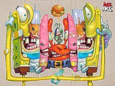 Spongebob by Oleg Evteev #Design Popular #Dribbble #shots
