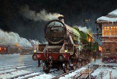 www.haveit.cz Fine Art Prints of Railway Scenes & Train Portraits - Bengal waits at Hereford