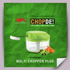 #BollywoodSwagAnusar   Save this pin if you love Bollywood and your kitchen.  To make your kitchen struggles easier, we bring to you our superstar: Multi Chopper Plus