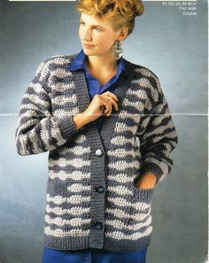 93534f1a2f8c womens crochet cardigan CROCHET PATTERN pdf ladies crochet jacket 32-40