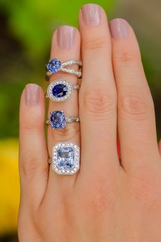 A mix of K. Brunini Jeweled Sapphire Rings | Oster Jewelers