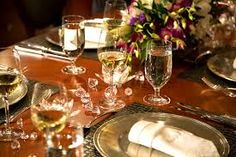 LUXURY YACHT TABLE SETTINGS