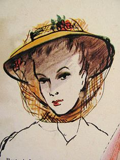 Pintucks: Victorian Styled Hats from the late 1930's