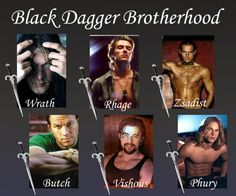 The Black Dagger Brotherhood  Cast? Personally, Vishous is not right in this one...Ryan Reynold would be better..