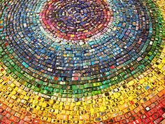 David T Waller used 2,500 toy cars to create a new installation piece titled Car Atlas - Love it