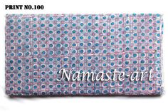 05-10 Yard Material Indian Art Sewing Cotton Voile Hand Block Print Craft Fabric #Unbranded