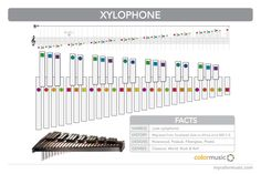 How to play the xylophone in ColorMusic.