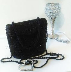 vintage cross body purse. sequins purse.  gala evening.  youth and elegant. elegant.  youth purse.  black purse. vintage. purse.any occasion by GenesisVintageShop on Etsy