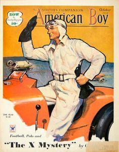 1934 Cover American Boy Art Edgar Franklin Wittmack Race Car Driver Grand Prix