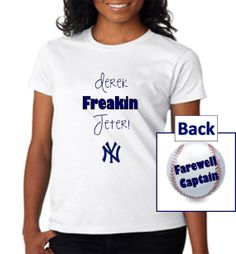 New York Yankees Womens Derek Jeter Shirt by PoshBlingBoutique 645092346112