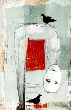 << toute a l'envers >> Art Print by linda vachon - X-Small Action Painting, Figure Painting, Arte Sketchbook, Art Brut, Weird Art, Strange Art, Art Graphique, Outsider Art, Naive Art