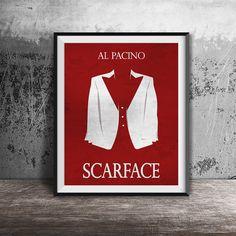 Movie poster printScarface-the movie printFilm by OandBstudios