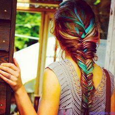 rainbow ponytall.