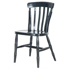 "Farm House Dng Chair  Poplar  19"" W x 19"" D x 35"" H  Finish/Color(s): Distressed Black"