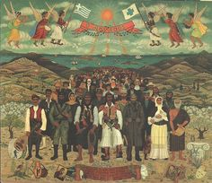 Greek folk artist Themis Tsironis Sant people 1982 oil on wood Greek Island Holidays, Modern Art, Contemporary Art, Greek Paintings, Mediterranean Art, 10 Picture, Greek Art, Greeks, Color Of Life