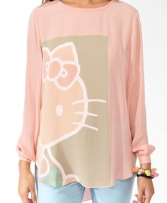 Surprised Hello Kitty® Top | FOREVER21 - 2030187671