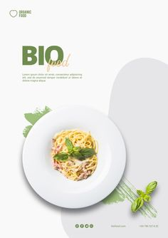 Bio food flyer template with photo , Food Graphic Design, Food Menu Design, Food Poster Design, Flyer Design, Design Design, Restaurant Poster, Restaurant Identity, Restaurant Restaurant, Poke Salad