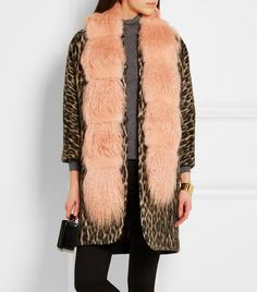 10 Years of Olivia Palermo Style: See Her Fashion Evolution via @WhoWhatWear ; SHRIMPS Marnie faux fur and shearling scarf