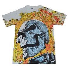 1991 Marvel Ghost Rider All Over Print Shirt Very Rare Comic Ghostrider Medium