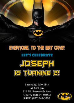 lego batman invitation 4x6 or 5x7 by orchidaveprintables on etsy, Party invitations