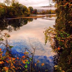 Early morning Bridge St in Richmond, #Vermont by Sam Trombino