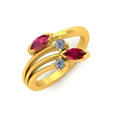 Pearl Necklace Designs, Jewelry Design Earrings, Gold Earrings Designs, Gold Ring Designs, Gold Bangles Design, Gold Jewellery Design, Stylish Rings, Stylish Jewelry, Ruby Wedding Rings