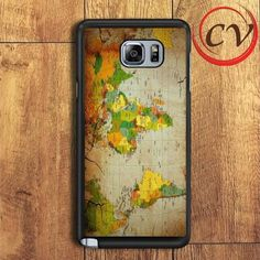 Old World Map Samsung Galaxy Note 5 Case