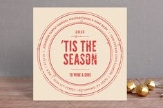 Wine and Dine Season Holiday Party Invitations by Rachel Buchholz at minted.com