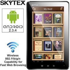 SKYTEX® 7 INCH CAPACITIVE TOUCHSCREEN TABLET ANDROID 2.3.4