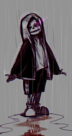 grafika dark, gore, and rain