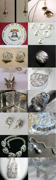 Silver Bells by Mindy Hogue on Etsy--Pinned with TreasuryPin.com