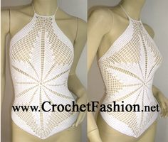 We are specialized in producing and designing all kinds of hand crochet and beaded garments such as the hand crochet sexy bikini, beachwear and the crochet dresses. Crochet Bikini Pattern, Knit Crochet, Bikinis, Swimsuits, Swimwear, Crochet Lingerie, Festival Tops, Crochet For Beginners, Monokini