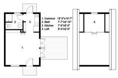 Tiny house plan from FreeGreen.com