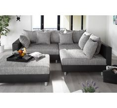 Canapé d'angle modulable Loft noir/gris Furniture, House Design, Room, Sofa, Sectional Couch, Multipurpose Room, Home Decor, Room Inspiration, Living Room Inspiration