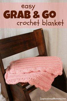 This sweet and soft Easy Grab & Go Crochet Blanket is perfect for days on the go. It may be small in size, but it is large in cuddles and snuggles.