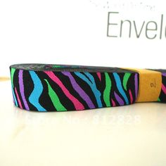 7/8'' 22mm Wide Rainbow Zebra Print Black Tone Woven Jacquard Ribbon For Dog Collar  Free Shipping-in Ribbons from Apparel  Accessories on Aliexpress.com $14.00