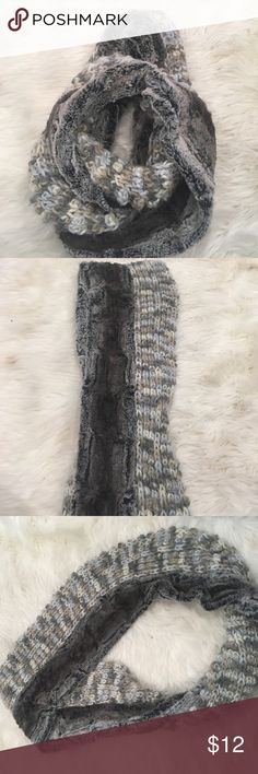 Faux fur infinity scarf Gorgeous grays, taupes, creams- yard and faux fur material.  Super soft and cozy on a cold day- neutral and goes with most anything Collection XIIX Accessories Scarves & Wraps