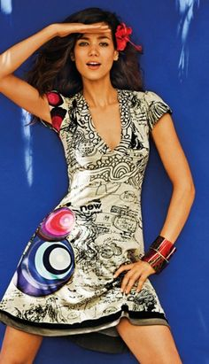 Desigual / my favorite dress from summer thank's for it to my lovely husband! Fashion 2017, Womens Fashion, Chic Dress, Gray Dress, Kimono, Short Sleeve Dresses, Bodycon Dress, Summer Dresses, Clothes For Women