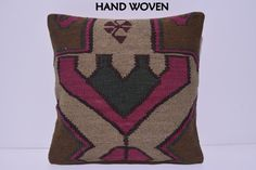 18x18 kilim pillow floral throw pillow by DECOLICKILIMPILLOWS