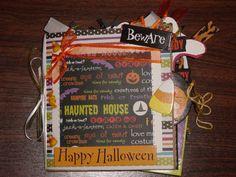 6x6 Halloween Paper Bag Album
