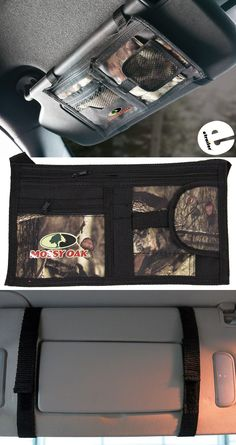 It's easy to keep all of your small items handy in your vehicle with this stylish Mossy Oak visor organizer. Decked out in camo, it attaches easily and has 7 areas for storing a variety of necessities. Gifts For Hunters, Hunting Gear, Mossy Oak, It's Easy, Camo, Deck, Organization, Stylish, Vehicles
