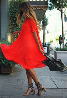 Red Alert. by Sincerely Jules (I know, it looks orange, but that's what the dress is called)