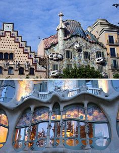 One of Barcelona's treasured buildings designed by the famed Antoni Gaudi, Casa Batllo is known locally as the 'House of Bones' for its flowing, skeletal stonework. With small balconies that resemble the faces of lizards and an exterior texture reminiscent of scales, perhaps it could more accurately be called reptilian.