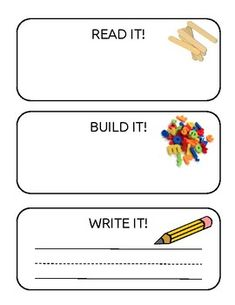 Print this out for Literacy Centers. Children pull out a craft stick with a word on it. They then build it with letter tiles or letter magnets. Then they can write it. Can be laminated for multiple uses. Name Activities Preschool, Word Work Activities, Kids Learning Activities, Spelling Word Activities, Listening Activities, Kindergarten Spelling Words, Vocabulary Strategies, Vocabulary Games, Special Education Classroom