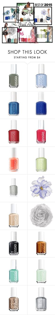 """""""Nail"""" by tobash21 ❤ liked on Polyvore featuring beauty, Essie and Universal Lighting and Decor"""
